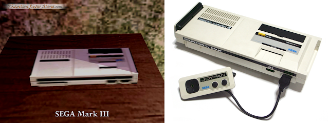 SEGA Mark III as seen in the Shenmue II (left) vs the real thing (right)