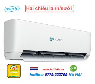 Điều hòa casper inverter 9000 BTU 2 chiều GH-09TL22 model 2019