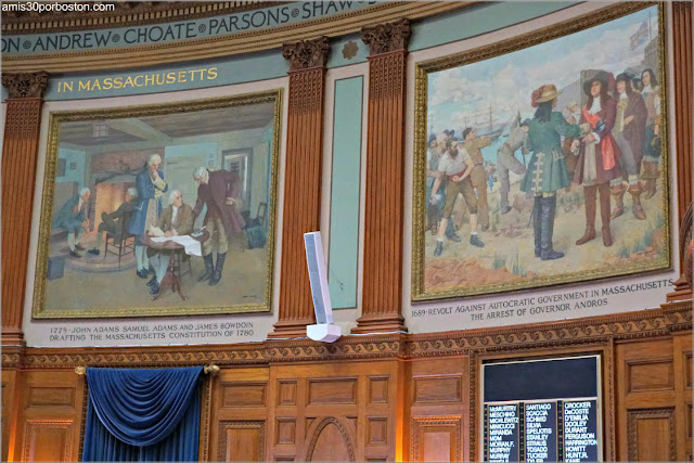 Pinturas de Albert Herter en la Cámara de los Representantes en el Massachusetts State House