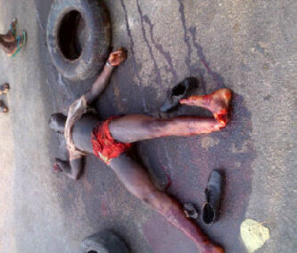 PHOTO: Pick-Pocket Mobbed to Death In Calabar This Morning 2