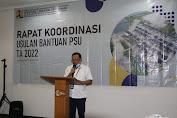Kementerian PUPR Melalui Balai Pelaksana Penyediaan Perumahan Sumatera I Gelar Rakor Usulan Bantuan PSU Anggaran 2022
