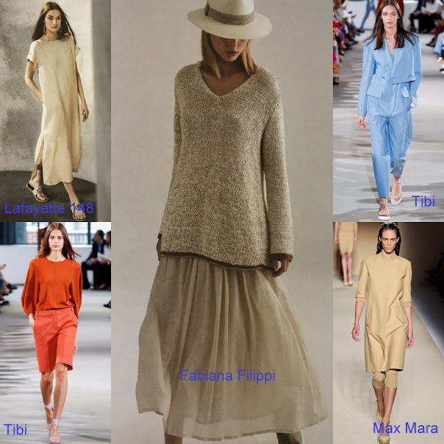 outfits from Lafayette 148, Fabiana Filippi, Tibi, Max Mara, and Tibi