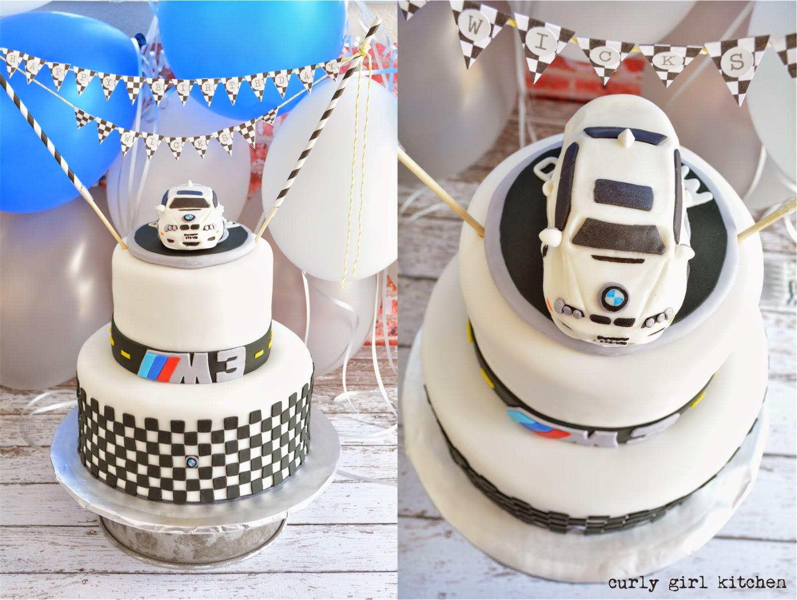 Curly Girl Kitchen BMW 40th Birthday Cake