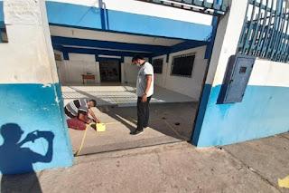 Escolas estão sendo preparadas para receber professores e alunos no retorno às aulas, em Brumado