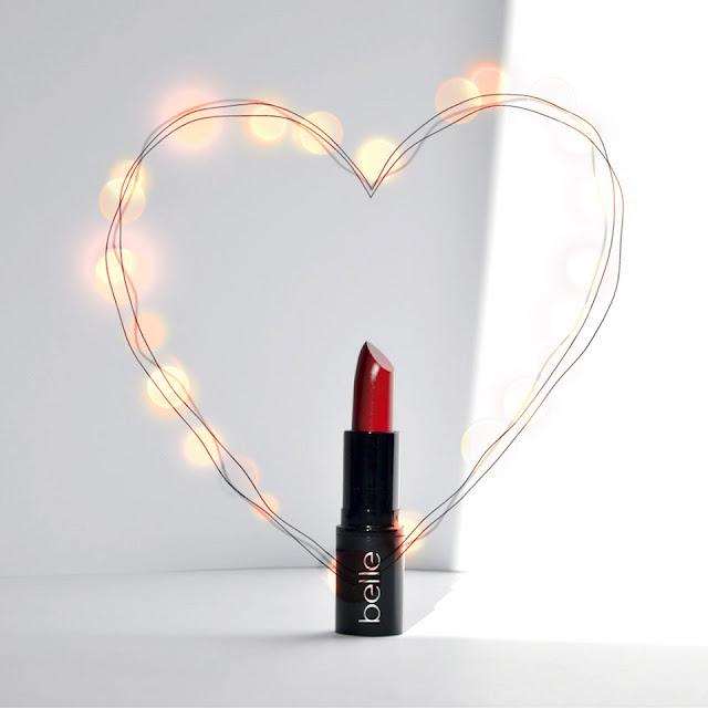 labial rojo belle