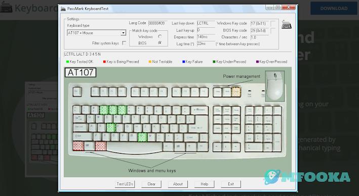passmark keyboard test