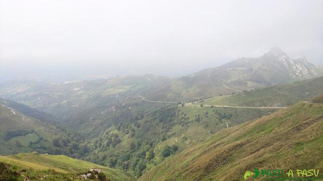 Desde el Collado Camba, vista de la pista