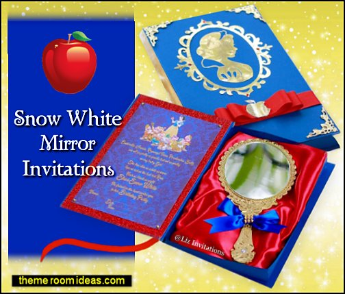 snow white party invitations Snow White Luxury Box Book Invitations