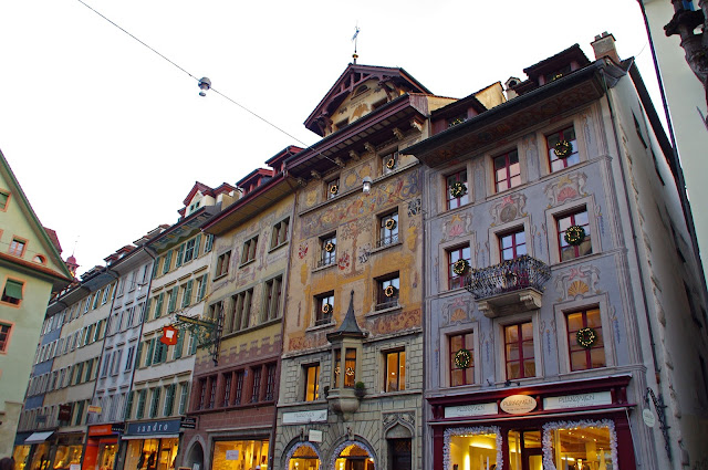 Buildings in Old Town Lucerne Switzerland
