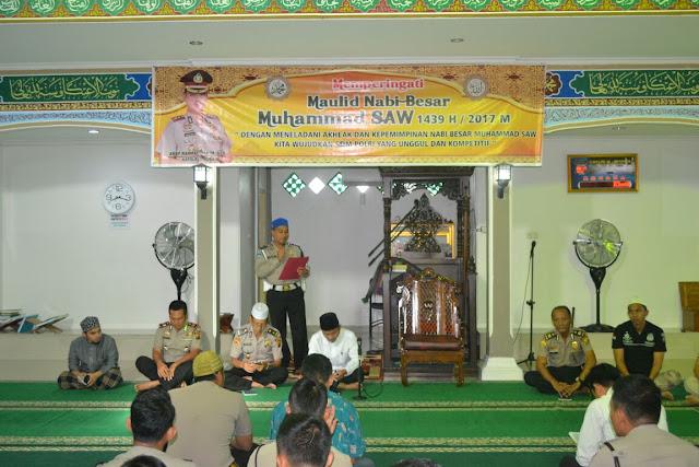 Polres Muba Peringati Maulid Nabi Muhammad SAW