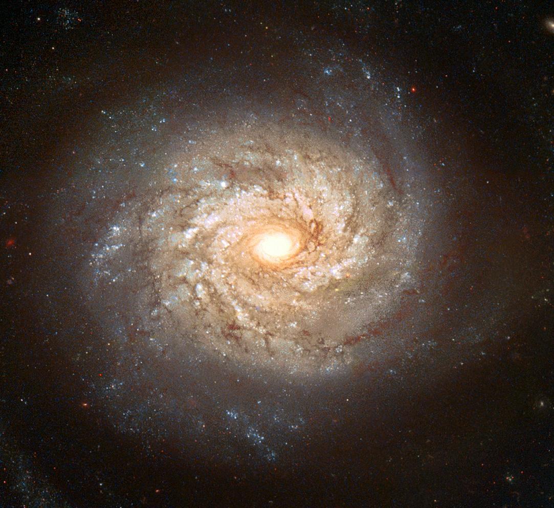 Thiên hà xoắn ốc NGC 3982 với nhiều cánh tay xoắn ốc chứa nhiều ngôi sao sáng các cụm sao và các thiên thể khác. Nó trải rộng 30 ngàn năm ánh sáng và cách địa cầu khoảng 68 triệu năm ánh sáng. Bạn có thể quan sát nó ở khu vực chòm sao Ursa Major (Gấu lớn). Tác giả : Stephen Smartt (U. Cambridge), HST, ESA, NASA.