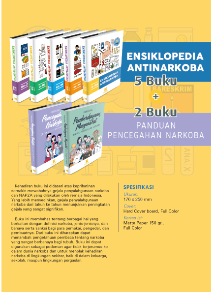 Jual Buku Ensiklopedia Antinarkoba (5 Buku) Dan Panduan Pencegahan Narkoba (2 Buku)