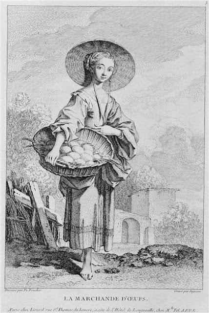 La marchande d'oeufs Boucher