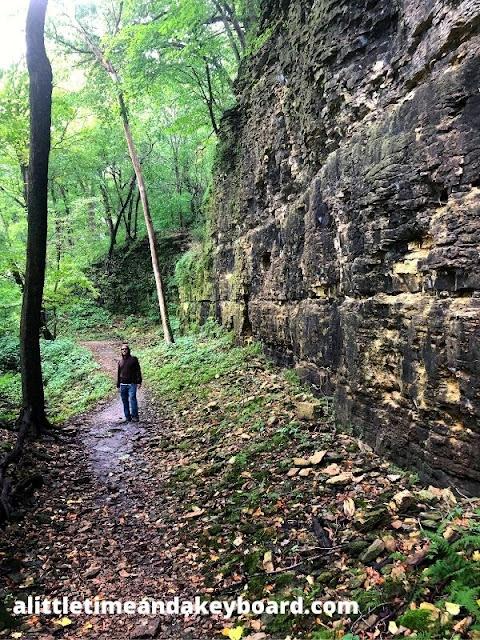 Cliffs along the Devil's Staircase certainly impress!