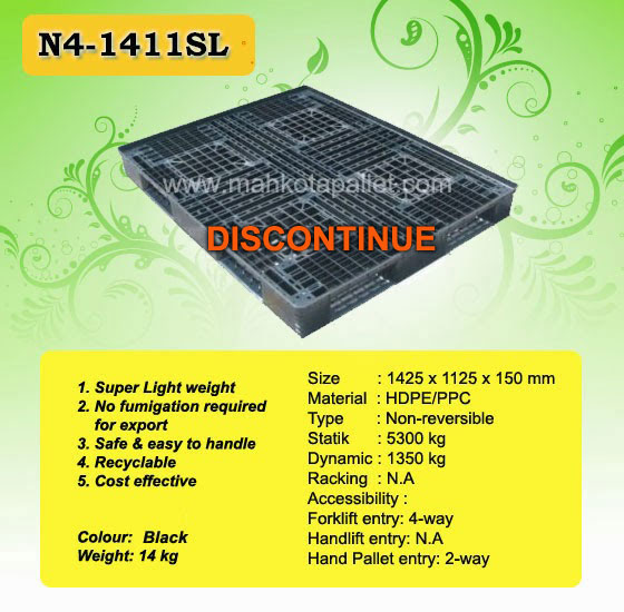 Pallet Plastik N4-1411SL