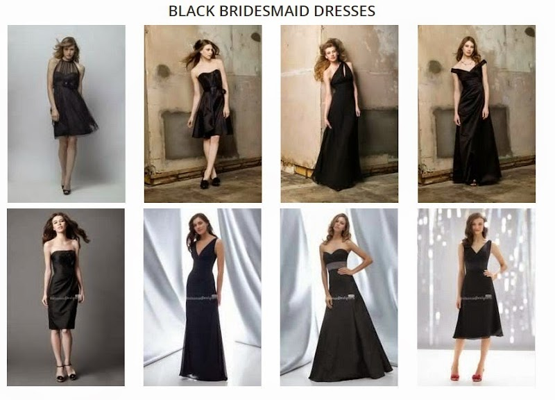 Black Bridesmaid Gowns, Take Your Pick!