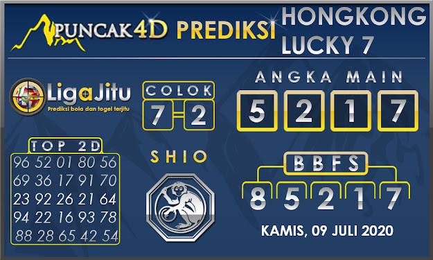PREDIKSI TOGEL HONGKONG LUCKY 7 PUNCAK4D 09 JULI 2020