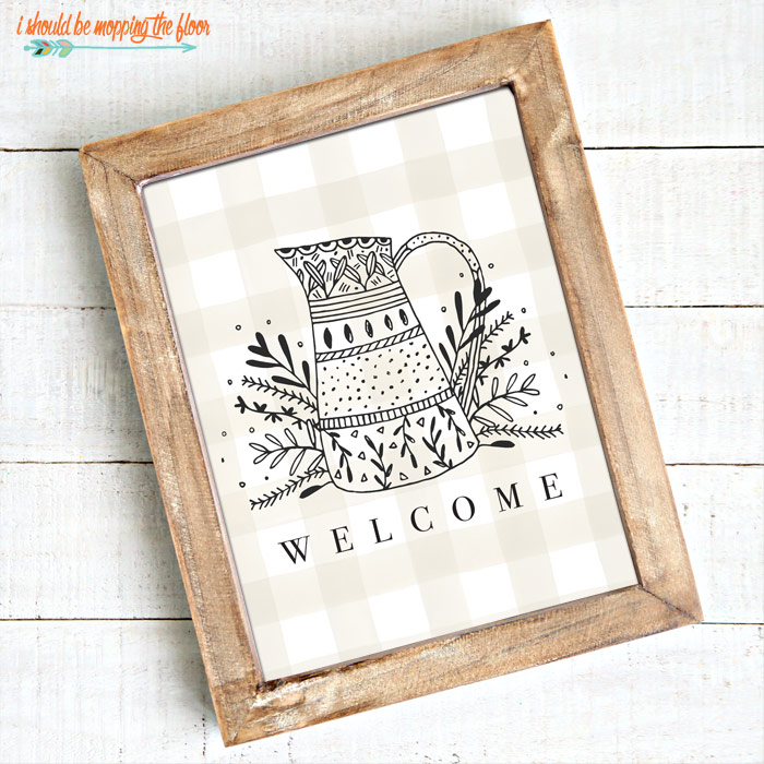 Folksy Welcome Printable