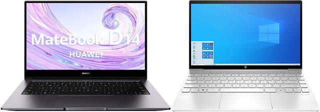 Huawei Matebook D14 (Intel) vs HP ENVY 13-ba0000ns