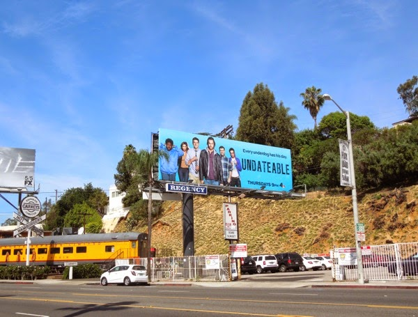 Undateable series launch billboard