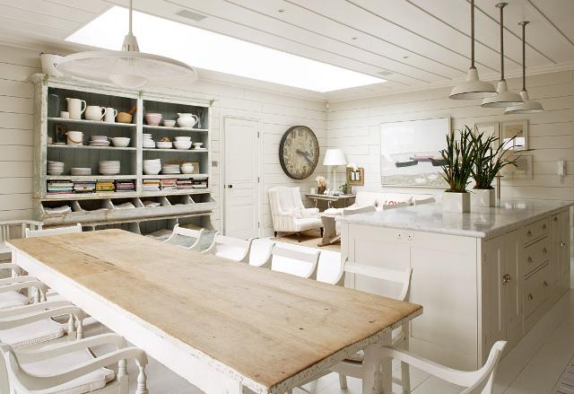 Rustik chateaux acogedor ambiente cocina comedor y for Cocina salon comedor rectangular