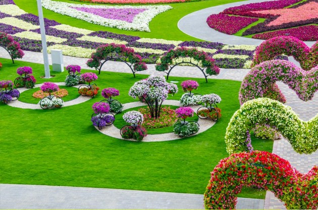 Flower landscaping design