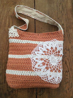 sac en crochet nappeon coton DMC