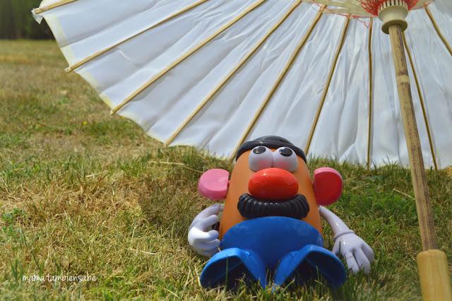 Mr Potato busca la sombra