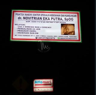 Neon Box BackLite dr. NOVITRIAN Cikande Serang