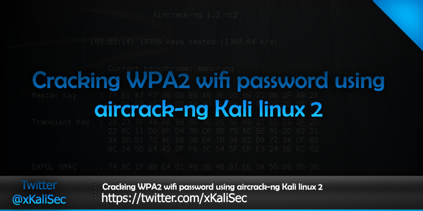 Cracking WPA2 WiFi password using aircrack-ng Kali Linux - KaliTut