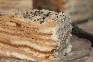 Торта с домашен крем - рецепта
