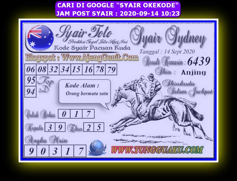 Kode syair Sydney Senin 14 September 2020 149