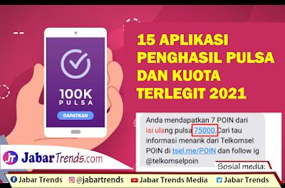 Aplikasi Penghasil Pulsa Terlegit 2021