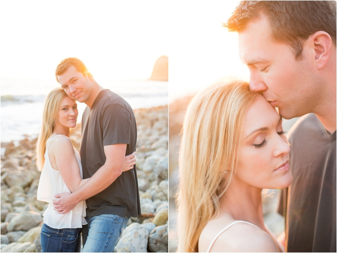 Beach engagement session by Blissfully Illuminated Photography