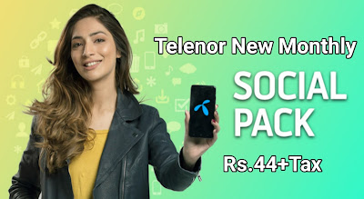 Telenor affordable Monthly Facebook & WhatsApp Offer Package