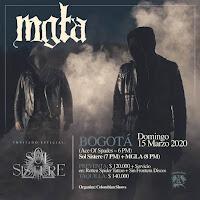 CONCIERTO de MGLA+ SOL SISTERE en Bogota