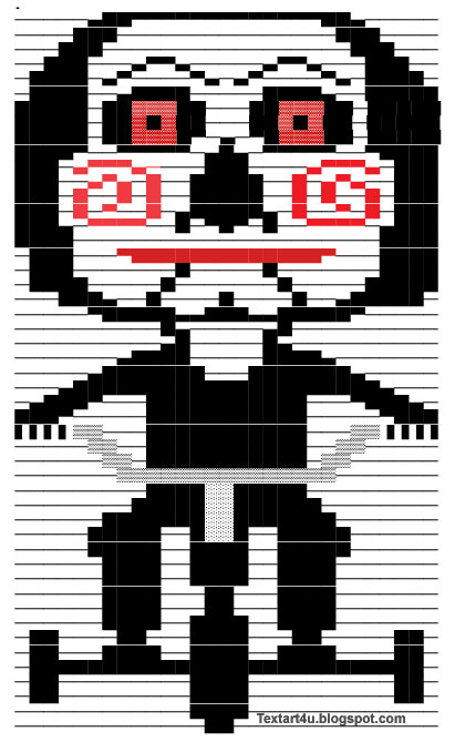 Billy The Puppet | Jigsaw Copy Paste Text Art | Cool ASCII ...Text Art Symbols Copy And Paste