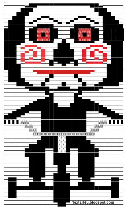 Billy The Puppet Jigsaw Copy Paste Text Art Cool Ascii Text Art 4 U
