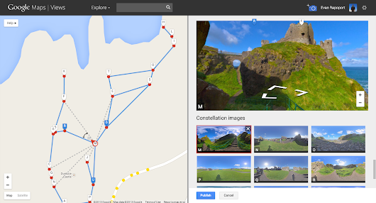 How to create street view with android phone