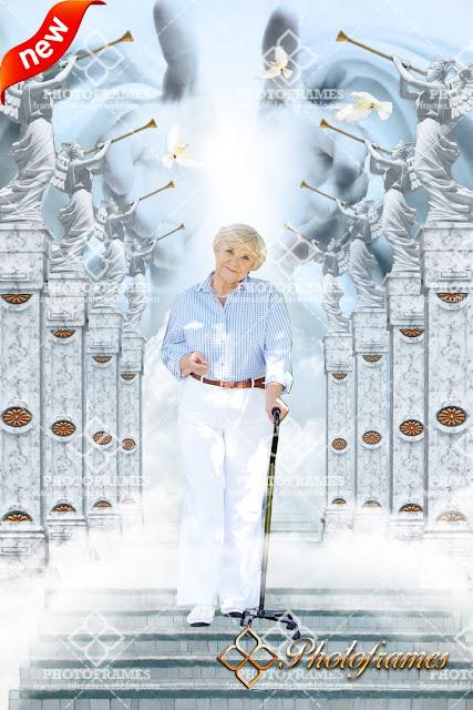 Camino al paraíso hacia las manos de Dios - Fondo pre-diseñado