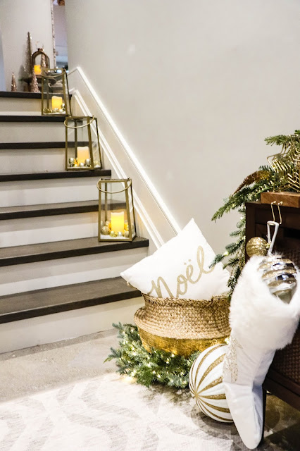 Canadian Tire Christmas Inspiration Gold Ornaments Entryway