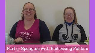 #CTMHVandra, Big Shot, Cardmaking with Caroline & Vandra, cuttlebug, embossing, embossing folders, how to, Sponge daubers, sponging, tutorial, video, Youtube,