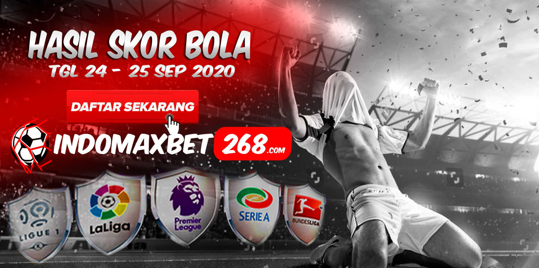 Hasil Pertandingan Sepakbola Tanggal 24 - 25 September 2020