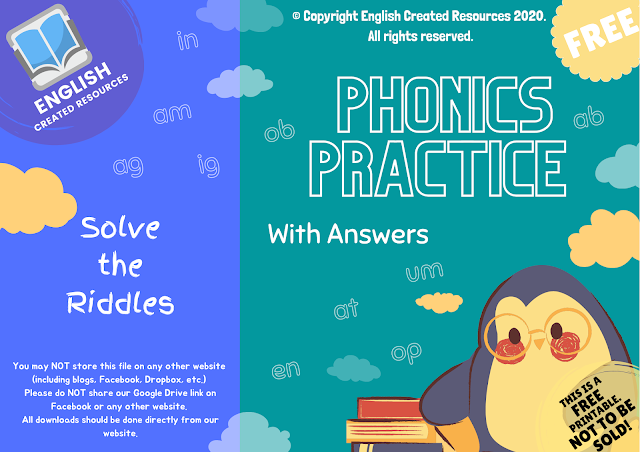 Phonics Practice ( Solve the Riddles) With Answers