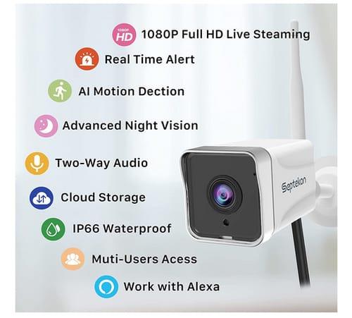 Septekon 1080P WiFi Home Surveillance Camera