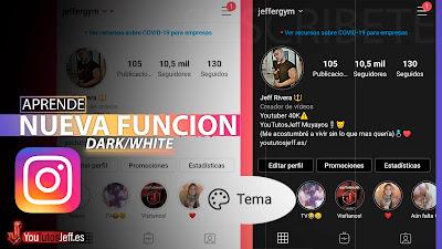 activar modo dark instagram