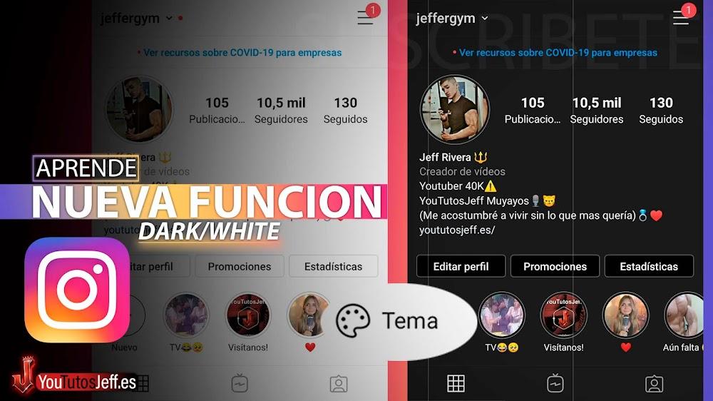 La Nueva Función de Instagram, Modo Dark y Modo White