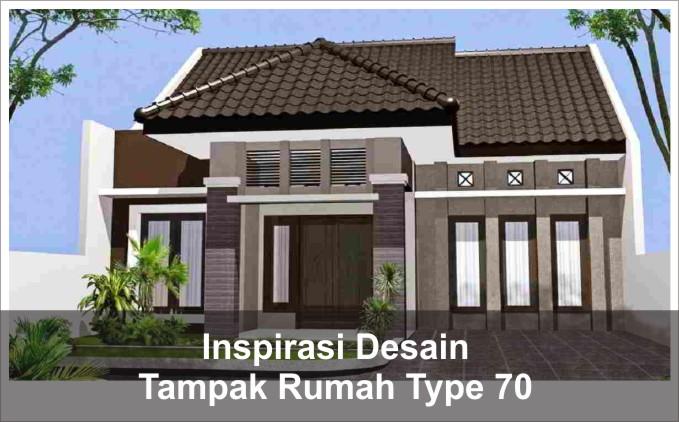 inspirasi tampak rumah type 70