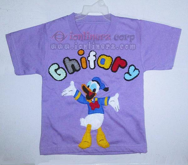 Kaos / Baju Flanel Anak Karakter Kartun Donald Duck