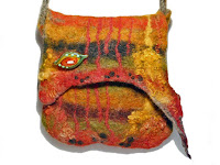 Orange wet felted purse https://www.etsy.com/listing/569158626/orange-green-earthy-felted-wool-small?